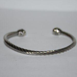"""Silver wire cuff bracelet 7"""""""